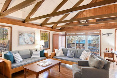 Living Room with views of Pleasant Bay