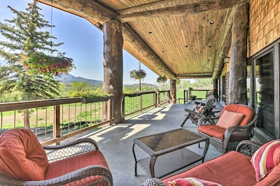 Enjoy your Paonia vacation rental's spacious deck daily!
