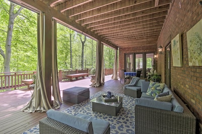 Enter a wooded oasis at this serene apartment!