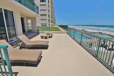 Huge oceanfront balcony