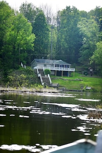 Legacy Lake House is a lakefront home on Acre pond, 40 acres of fun &  fishing