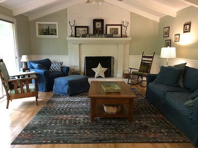 Ample seating in the living room.