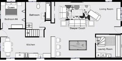 Floor plan of first floor