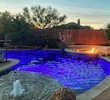 LED Customizable pool lighting with Firepit Ambiance