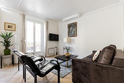 The living area/Le salon
