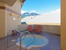 Relaxing hot tub is perfect after a long day on the slopes!