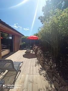 Terrasse de 20 m2 avec mobilier de jardin