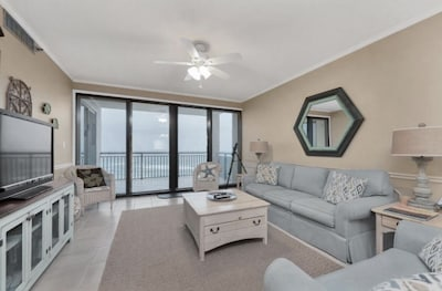 Enjoy a LARGE Gulf Front Balcony at Navarre Towers