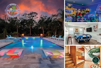 Welcome to Great Escape Manor, a 9 bedroom luxury home with a private pool, custom-built kids' bedrooms, and more! | PHOTOS TAKEN: February 2021