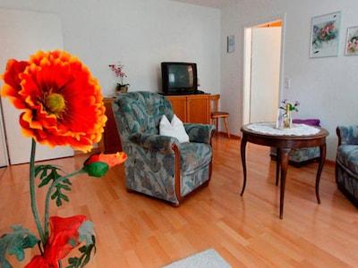 Ferienwohnung 54qm, 1 Schlafzimmer, max. 2 Personen-Wohnraum