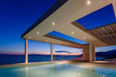 Sunset view from the pool area