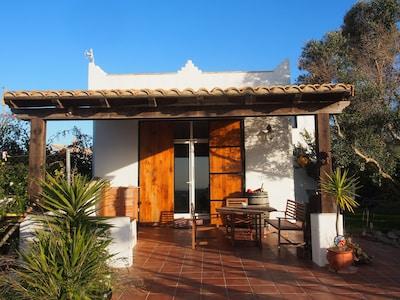 Terrasse und Eingang  Casa Vista al Mar