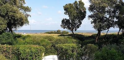 Vue de la propriété face à la plage