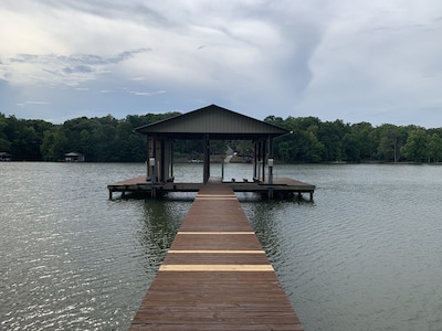 Large dock - One slip included w/ stay 2 Jet ski lifts