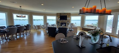 Take in the panoramic views with floor to ceiling windows