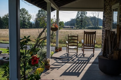 The rocking chairs on the porch is the best spot to enjoy the breeze and sunset.