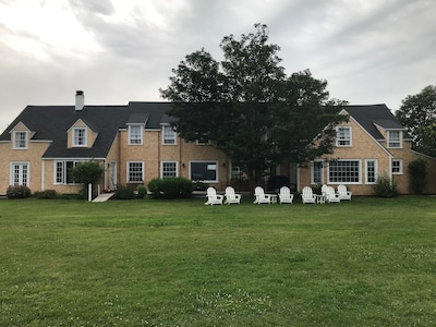 Main house on a blustery day