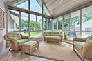 Step into the sunroom and sip your morning coffee by the light of the sunrise!