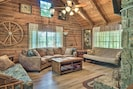 The living room offers additional sleeping with 2 futons.