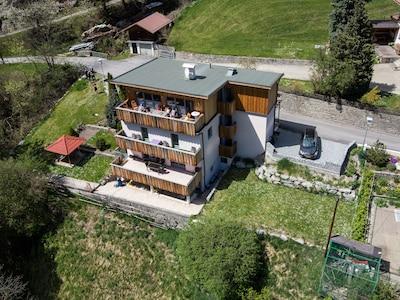 Komperdell linbana, Serfaus, Tyrolen, Österrike