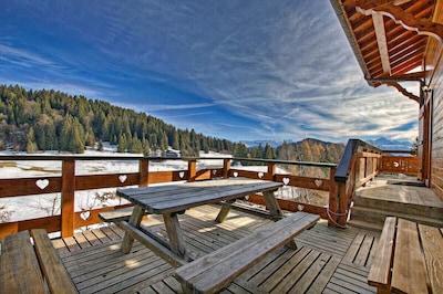 Skilift Praz l'Évêque, Taninges, Haute-Savoie (Département), Frankreich