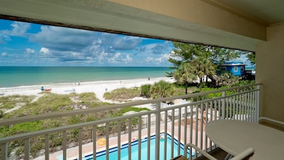 Watch dolphins from your private balcony
