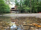 Bring your rainboots to play in the creek! See how clear it is! BEAUTIFUL!