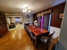 l Lovely and warm dining Room over  looking the living room