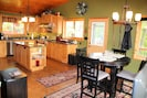 A fully-equipped Kitchen and Dining Area.