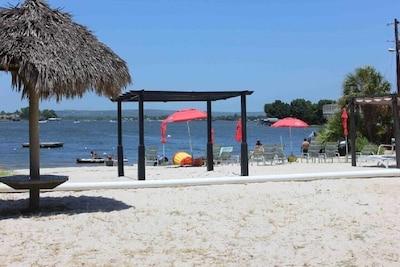 White sandy beach