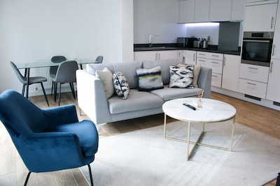 Stylist and Bright Modern Stratford apartment with stunning view and balcony