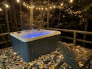 Hot tub over looking the lake