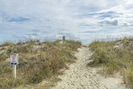 Beach access through dunes