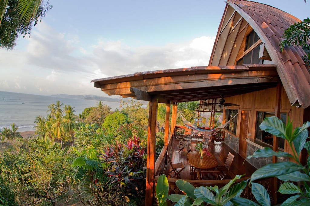 Porch overlooking Drake Bay and the Pacific Ocean