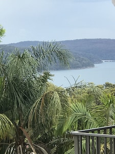 Stunning views over Pittwater with pool. Modern self contained flat. *NEW*
