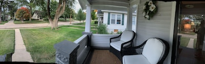 Front porch - great for relaxing, visiting or just watching Mother Nature