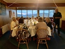Small group enjoying a delicious three course dinner
