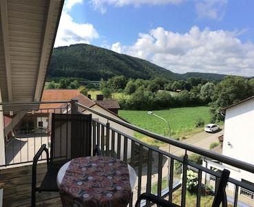 Ferienwohnung 2-Blick vom Balkon