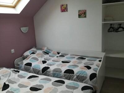 Des chambres décorées avec goût pour des vacances en familles ou entre amis.