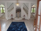 The entrance hall and stairs