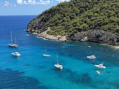 Cala Llonga, Santa Eulalia del Rio, Balearic Islands, Spain