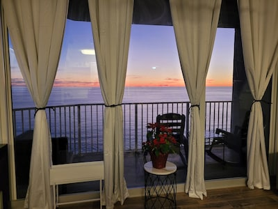 Enjoy Beautiful Sunsets from the Living Room and Kitchen!!