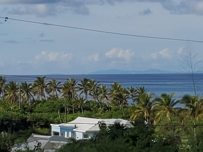 Our view: On a clear day you can see St. Thomas and St. John  from our deck