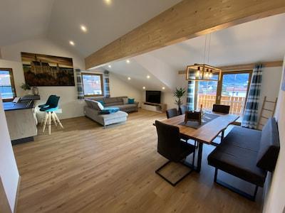 Küche, Wohn-& Esszimmer