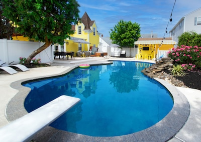 The Outdoor Oasis - the star of the show! our 600 sq ft outdoor pool