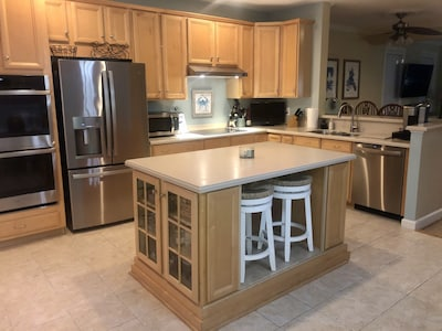 Kitchen with seating for 12