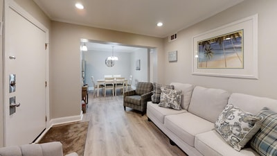 Beautiful living area with all new furnishings