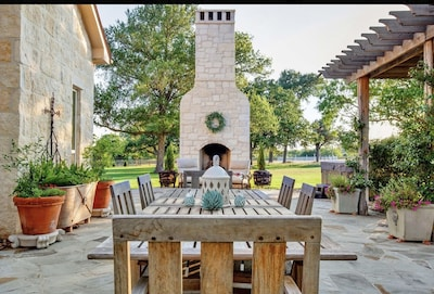 Outdoor dining table for meals served al fresco