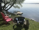 Lake Front Cottage  Muskoka Chairs Pit FIre and Dock
