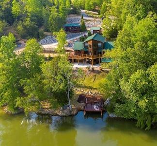 Birdseye View of the Mystic River Lodge Resort